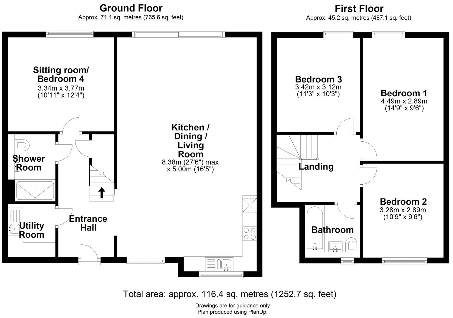 Floor plan Midsummer Place, Cambridge
